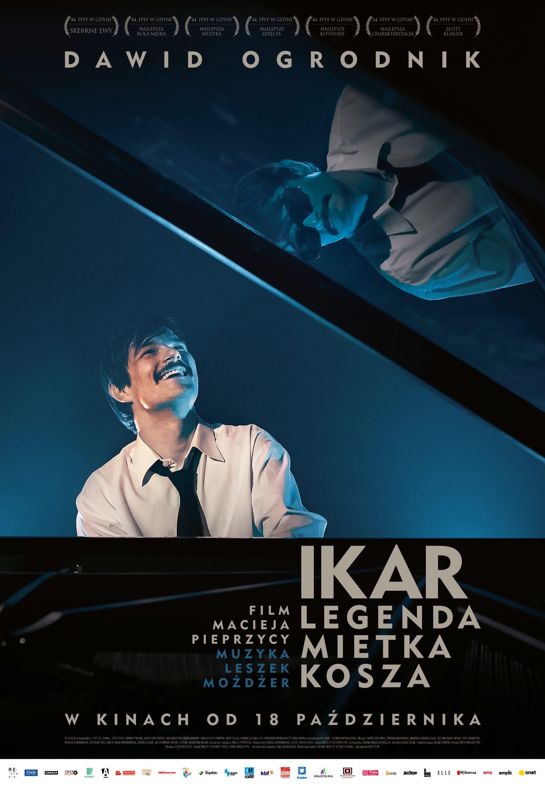 IKAR. Legenda Mietka Kosza - plakat B1 (BLUE)