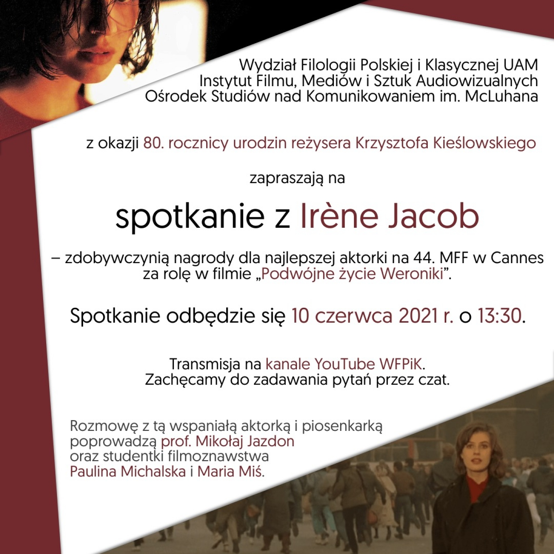 Plakat Irene Jacob FOTO 2 2021